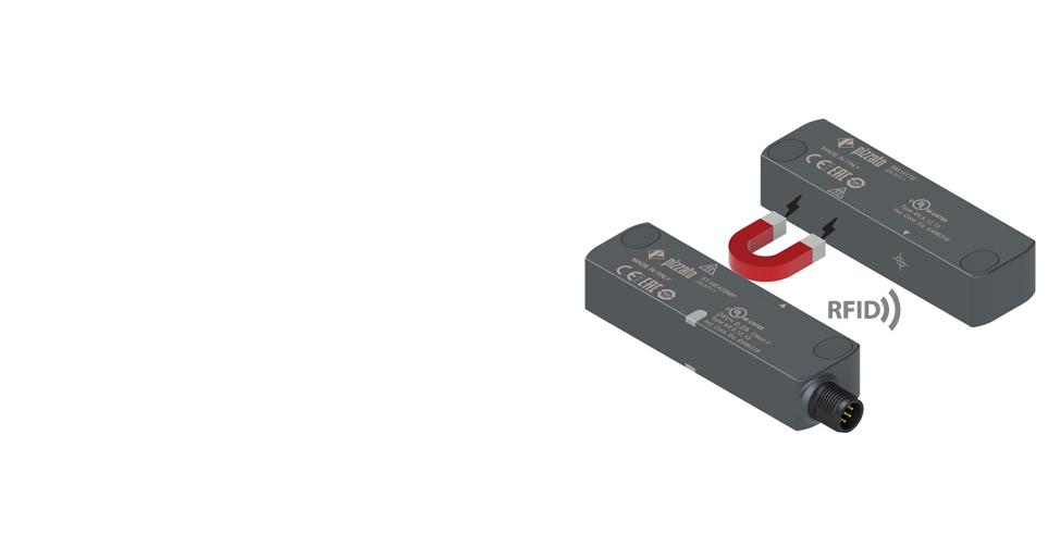 Capteurs de sécurité RFID avec retenue magnétique de l'actionneur série ST H